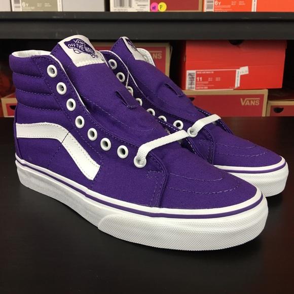 157d1d72d8f05a Vans Sk8 Hi Canvas Imperial Purple White